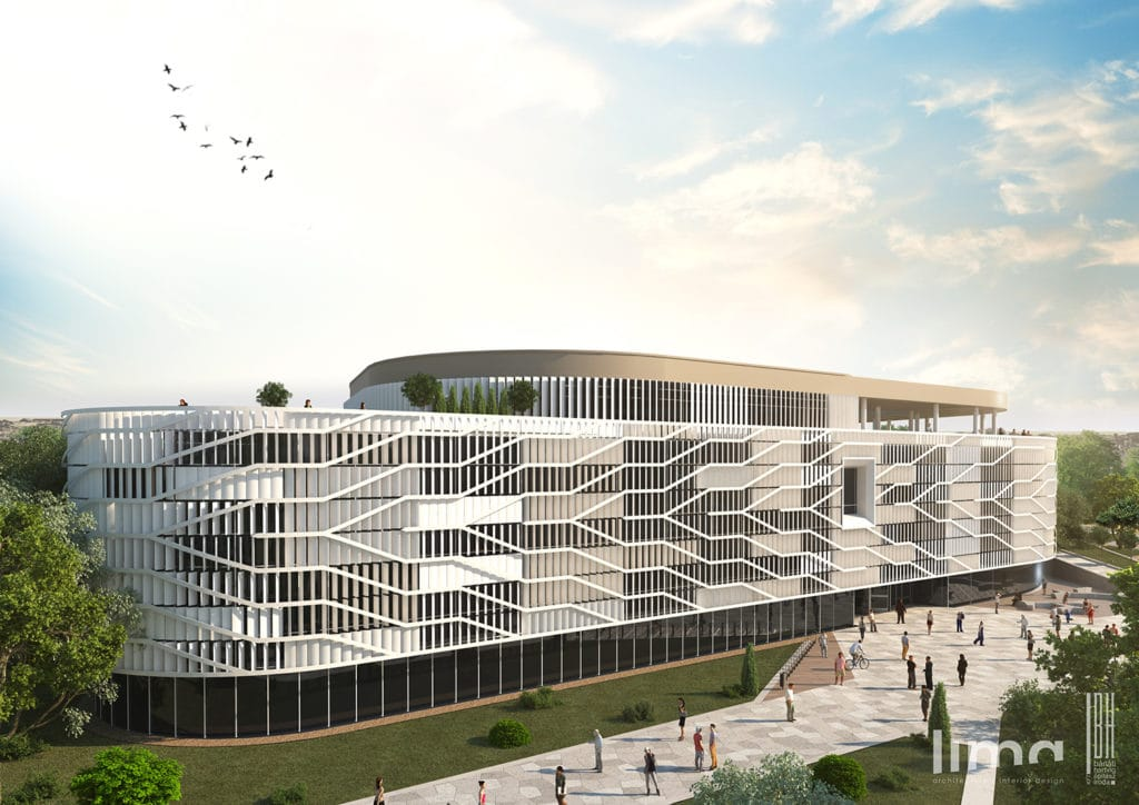 Das größte<br /> das Unterrichtsgebäude